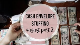 Stuffing my CASH ENVELOPES | August Part 2 | Dave Ramsey Inspired Budgeting | GIVEAWAY SNEAK PEEK