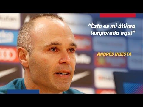 LIVE - Andrés Iniesta's press conference