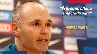 RUEDA DE PRENSA | Andrés Iniesta anuncia su adiós al FC Barcelona