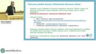 Tiekunnan päätösten rekisteröinti, kiinteistötietojärjestelmä, tiekunnan päätökset (Mauno Pyykönen)