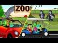 Baby Hulk family watch Gorilla in zoo |Hulk Cartoon Video | kiddy Cartoon Video