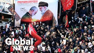 Iran's attack on airbases housing U.S. troops; Dozens killed in stampede at Soleimani burial