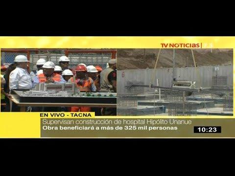 Presidente Kuczynski supervisa construcción del nuevo hospital Hipólito Unanue en Tacna