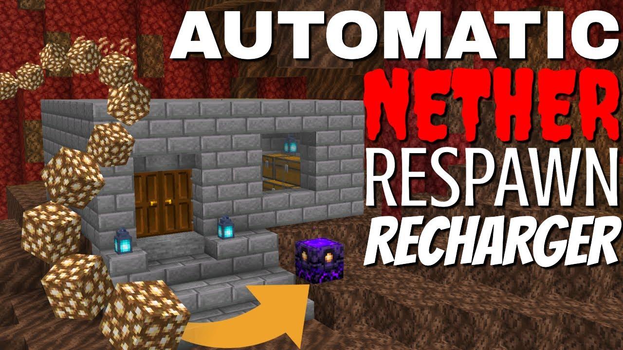 Minecraft Respawn Anchor Automatic Charging Machine Tutorial for Minecraft 1.16 (Avomance 2020)