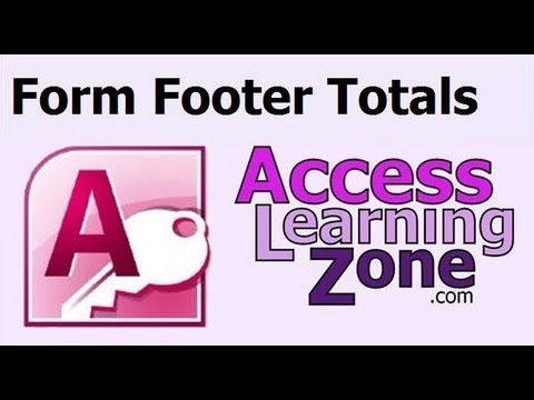 Microsoft Access Form Footer Total - YT