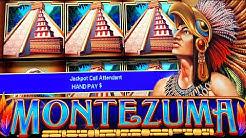 $100 BETS ON MONTEZUMA! ★ JACKPOT HANDPAY ➜ LIVE HIGH LIMIT SLOT PLAY!