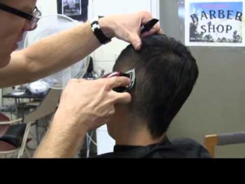 Faux Mens Mohawk Fade Frohawk Haircut Clipper Line Up