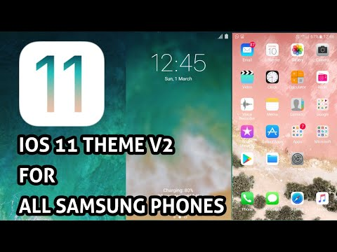 Download iOS 11 Samsung Theme for All Samsung Devices