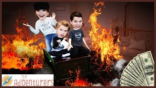 The Floor Is Lava - LAVA MONSTER! Last To Leave TEMPTATIONS 2/ That YouTub3 Family I The Adventurers
