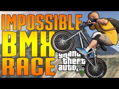 IMPOSSIBLE BMX RACE = POSSIBLE? (GTA V Funny Moments)