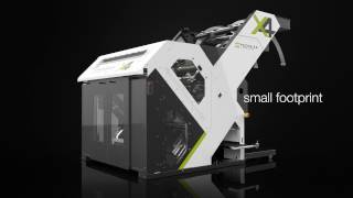 The X4™ automated On Demand Packaging® system cuts, folds, labels, ...