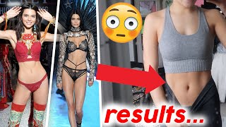 I followed VICTORIA SECRET model KENDALL JENNER workout routine