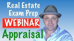 Real Estate exam Appraisal webinar