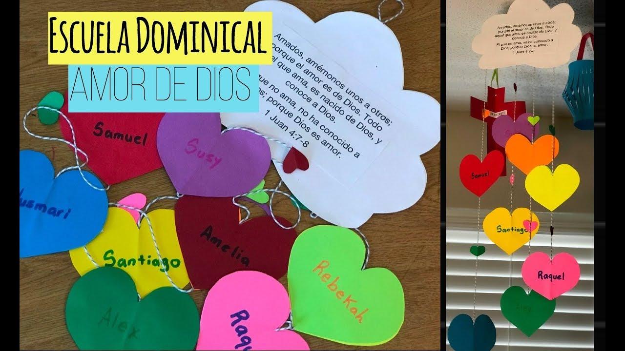Manualidades para la escuela dominical el amor de dios y - Cosas de manualidades para ninos ...