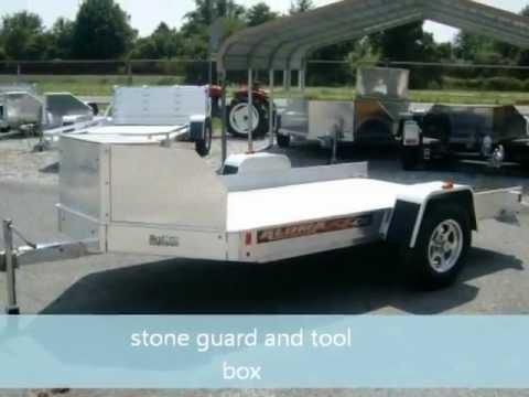 Aluma Ut10 Aluminum Utility Utv Trailer Demo And Slide