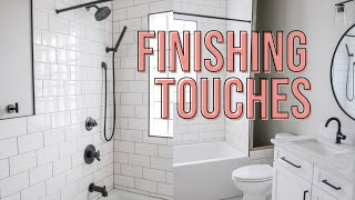 FINISHING TOUCHES | Delta Trinsic Fixtures | DIY Bathroom Remodel
