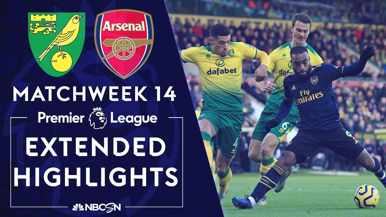 Norwich City V Arsenal Premier League Highlights 12 1