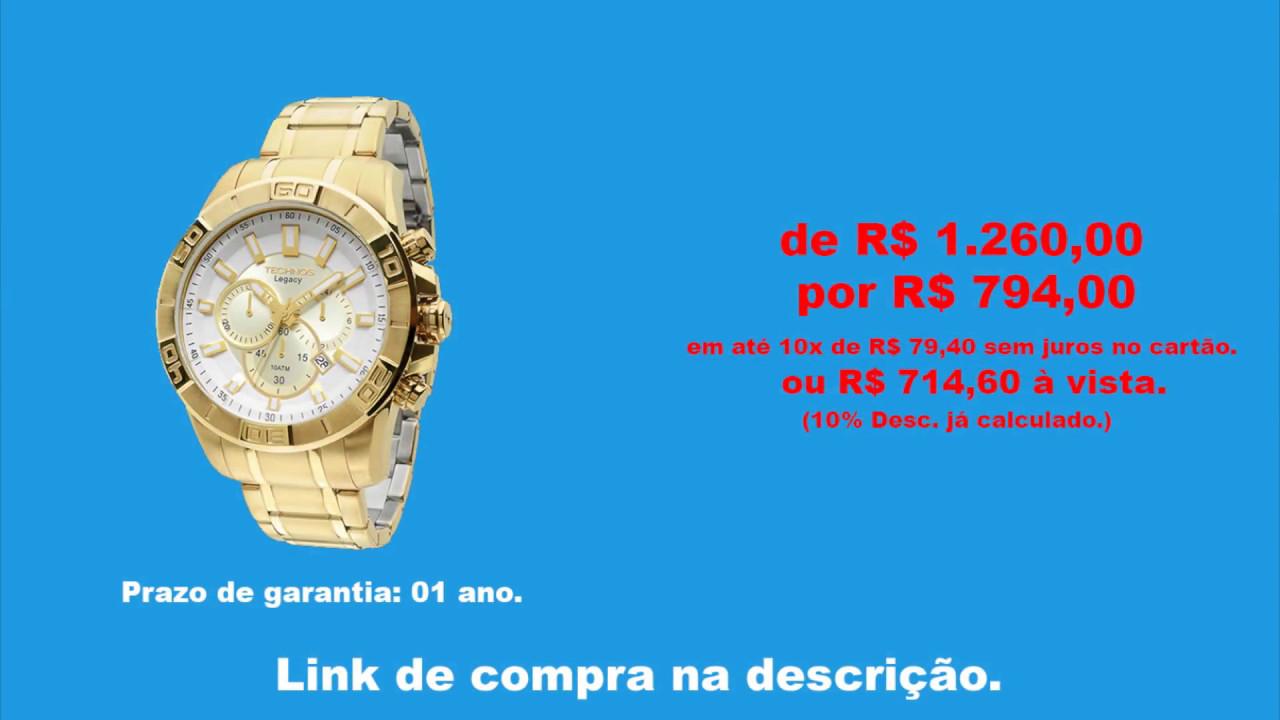 350d68d2909 Relógio Technos Classic Legacy (JS25AN 4B) - YouTube
