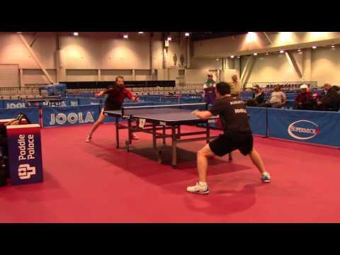 AJ Carney v Sharon Alguetti Hardbat Finals 2016 US Open, 2 of 2