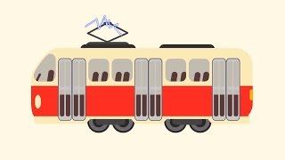 Мультик про машинки - БИБИКА! - Такси, Маршрутка, Автобус, Трамвай (Городской транспорт для детей)