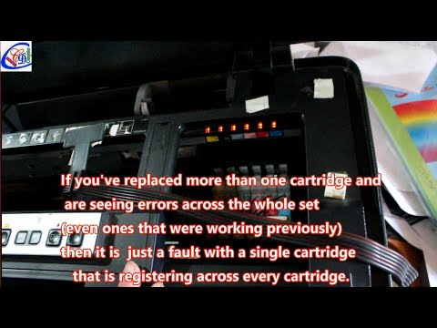 How to Fix the cartridge not recognised error Epson & Canon