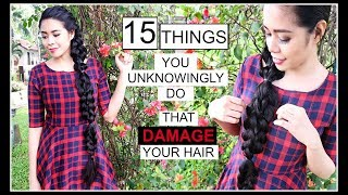 15 THINGS YOU UNKNOWINGLY DO THAT DAMAGE YOUR HAIR-HOW TO STOP BREAKAGE-BEAUTYKLOVE