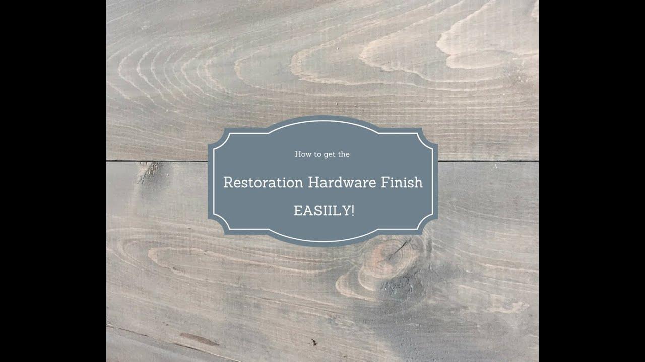 Restoration Hardware Style Stain Finish  YouTube