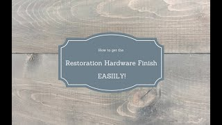 Restoration Hardware Style Stain Finish