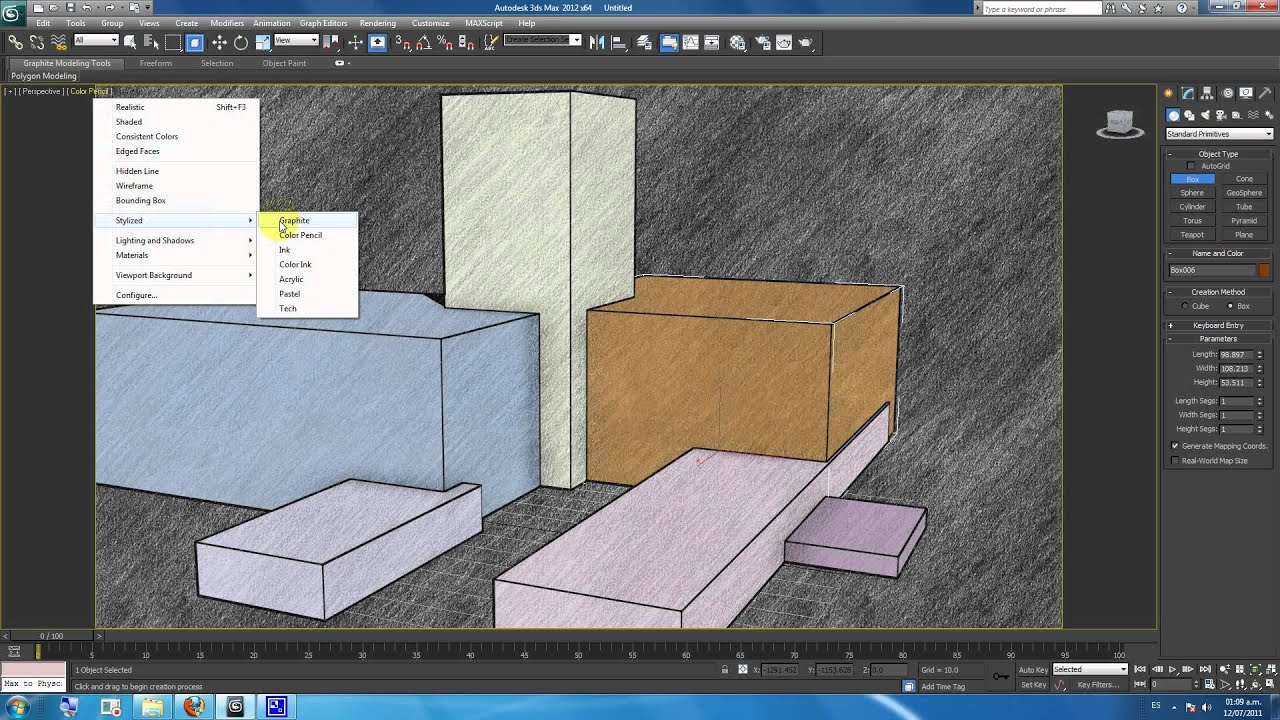 How to render stylistic with 3d studio max renderizar for 3d studio max