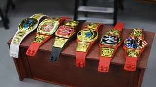 CUSTOM WWE FIGURE BELTS YOU CAN MAKE YOURSELF!