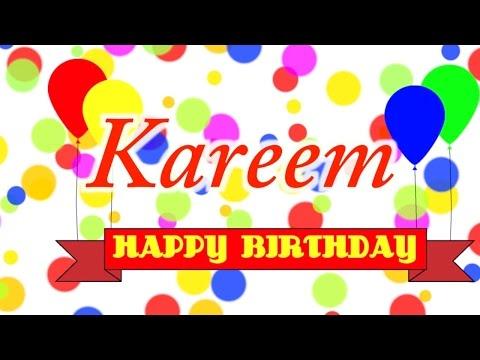 Happy Birthday Kareem Song