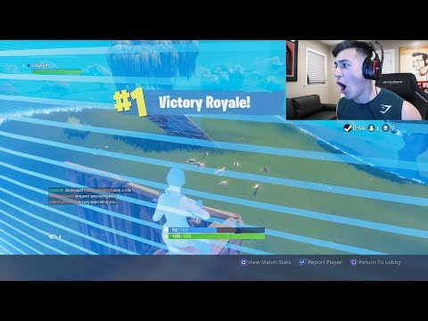 MY FIRST VICTORY in Fortnite: Battle Royale!