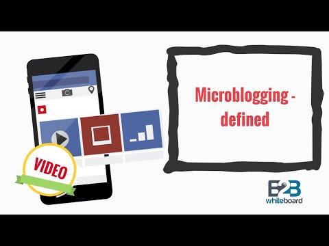 Microblogging - defined