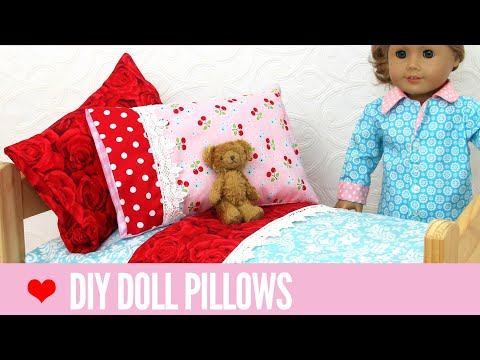 DIY Doll Bed Pillows for 18 Inch Dolls