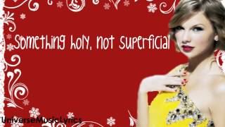 Christmas Must Be Something More- Taylor Swift (Lyrics Video) HD