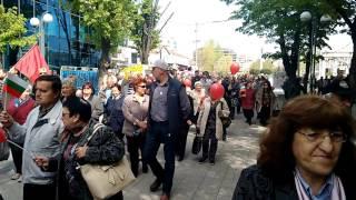Гайди и тъпан поведоха първомайското шествие на социалистите в Бургас