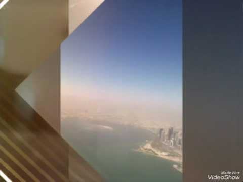 Photograph from sky of doha