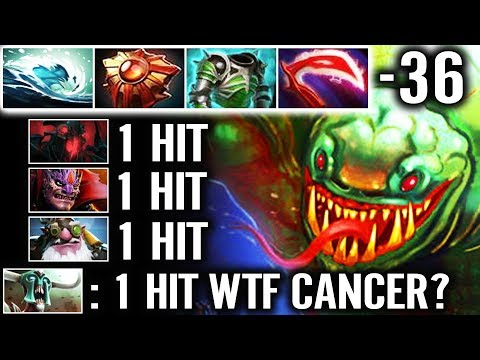 WTF!? -36 Armor One Shot Enemy - NEW CANCER Tidehunter Build dota 2 7.20 gameplay thumbnail
