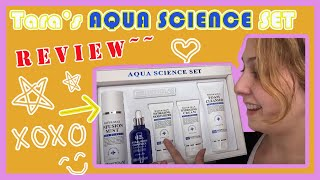 4 Step Night Routine/ Aqua Science Gift Set Review