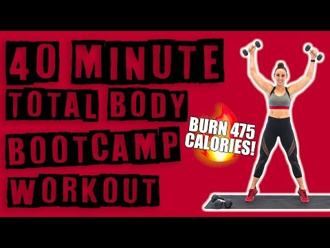 40 Minute Bootcamp Workout 🔥Burn 475 Calories! 🔥