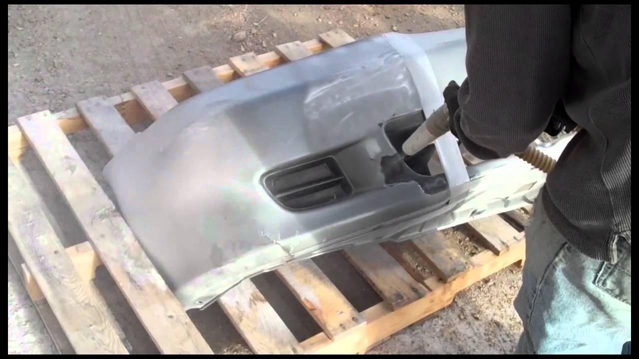 Soda Blasting Media >> Soda Blasting a Car's Plastic Bumper - YouTube