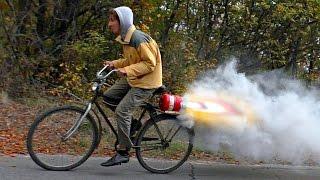 Велосипед с РЕАКТИВНЫМ ДВИГАТЕЛЕМ на селитровом карамельном топливе(Электро велосипед - http://ali.pub/t2h3d ◇ Горный велосипед - http://ali.pub/n02fj ◇ Аксессуары для велосипеда - http://ali.pub/l0imd..., 2016-10-25T17:46:07.000Z)
