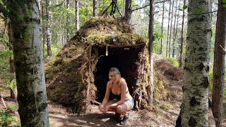 Overnight Camping Trip in our Tipi / Wickiup Shelter | Sweden 2019