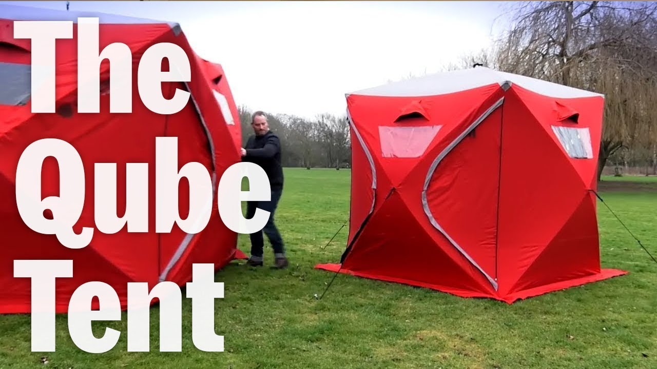 Qube Tents Connect To Make A Giant C&ing Fortress & Qube Tents Connect To Make A Giant Camping Fortress - YouTube