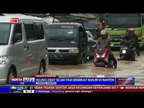 Jalan Serang-Cilegon Kilometer 7 Terendam Banjir