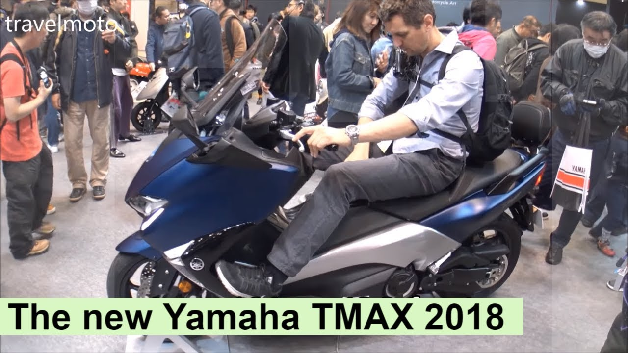 Repeat The new Yamaha TMAX 2018 scooter - tall rider 190cm (6,2ft