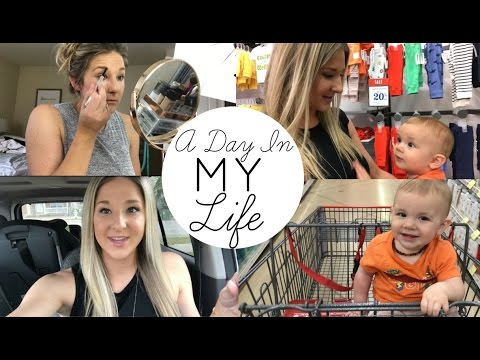 A Day in The Life 2017 | Stay at Home Mom | Grocery store, Cooking, Shopping