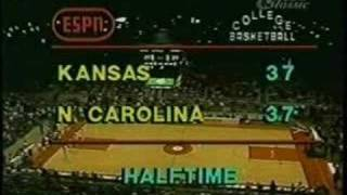 Jordan's First College Game -  N. Carolina vs. Kansas.  1981