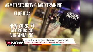 Armed security guard training requirements