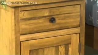 Cairo Solid Oak Large Bedside Cabinet From Oak Furniture Land